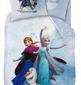 Disney Frozen Disney Frozen Dekbedovertrek Enjoy 140x200cm + kussensloop 63x63cm