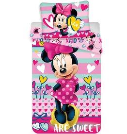 Disne3 Minnie Mouse Hearts - Dekbedovertrek - Eenpersoons - 140 x 200 cm - Multi