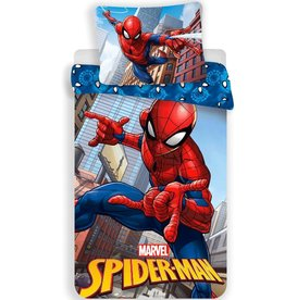 Spider-Man Spiderman Dekbedovertrek Jump 140x200cm + kussensloop 70x90cm - Microfibre