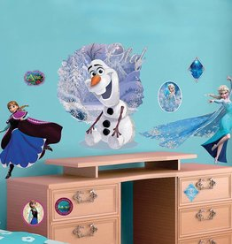 Disney Frozen Disney Frozen Muursticker Elsa & Olaf 100x70cm