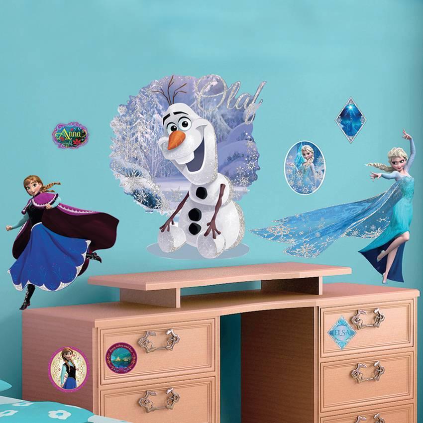 Disney Frozen Muursticker Elsa & Olaf 100x70cm