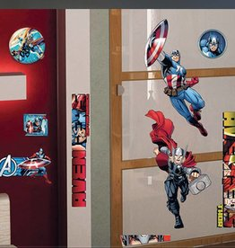 Marvel Avengers Muursticker Captain America & Thor 100x70cm