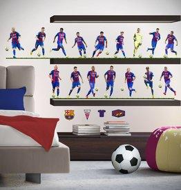 FC Barcelona FC Barcelona Muursticker 16 spelers 260x90cm