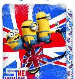 Minions Hello Londen - Dekbedovertrek - Eenpersoons - 140 x 200 cm - Multi