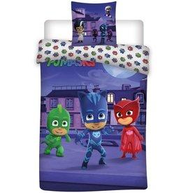 PJ Masks PJ Masks  Dekbedovertrek City 140x200cm + kussensloop 63x63cm