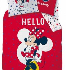 Disney Minnie Mouse Disney Minnie Mouse  Dekbedovertrek Hello 140 x 200cm + kussensloop 70x90cm