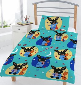 Bing Bunn3 Bedtime - Dekbedovertrek - Eenpersoons - 120 x 150 cm - Blauw