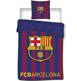 FC Barcelona FC Barcelona Dekbedovertrek Logo  140x200cm + kussensloop 65x65cm