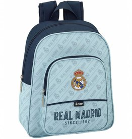 Real Madrid Real Madrid Rugzak Lichtblauw  34 x 28 x 10 cm - Polyester