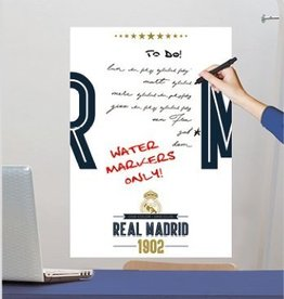 Real Madrid Real Madrid muursticker White Board 47x67cm