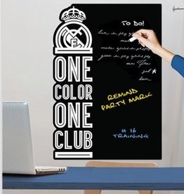 Real Madrid Real Madrid muursticker Black Board 47x67cm