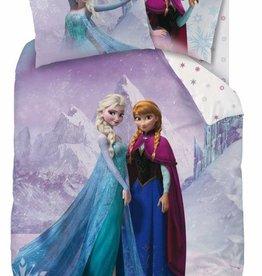 Disney Frozen Disney Frozen Dekbedovertrek Crystal Snowflakes 140x200cm + kussensloop 63x63cm