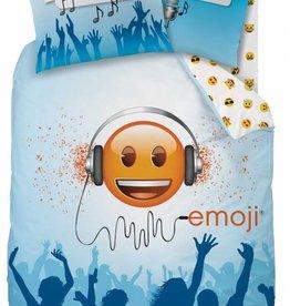 Emoji Emoji Dekbedovertrek Party Time 140x200cm + kussensloop 63x63cm