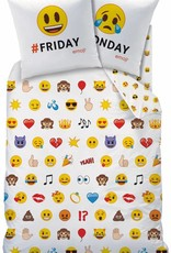 Emoji Emoji Dekbedovertrek Emotions 140x200cm + kussensloop 63x63cm