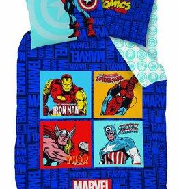 Marvel Avengers Avengers Comics Blue Dekbedovertrek 140x200cm + kussensloop 63x63cm