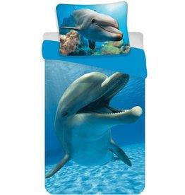 Animal Pictures Animal Pictures Dekbedovertrek Dolfijn 140x200cm + kussensloop 70x90 cm