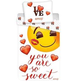 Emoji 3ou are so Sweet - Dekbedovertrek - Eenpersoons - 140 x 200 cm - Multi