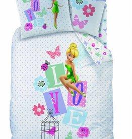 Disney Fairies Tinkerbell Disney Fairies Tinkerbell Dekbedovertrek Jardin des Fees 140x200cm + kussensloop 63x63cm
