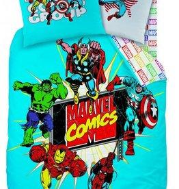 Marvel Avengers Dekbedovertrek Action Blue 140x200 + 63x63
