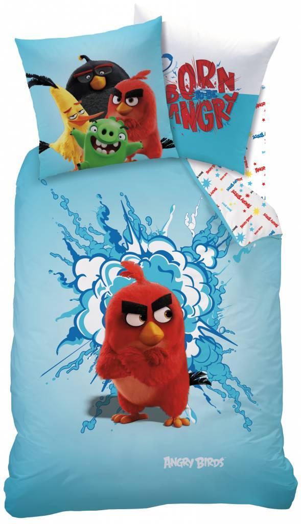 Angry Birds Angry Birds Dekbedovertrek Rood 140x200cm + kusssensloop 63x63cm