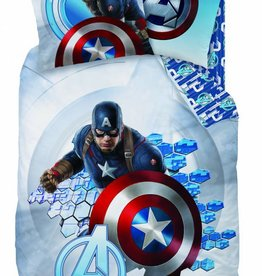 Marvel Avengers Dekbedovertrek Captain America 100% katoen 140x200 + 63x63cm
