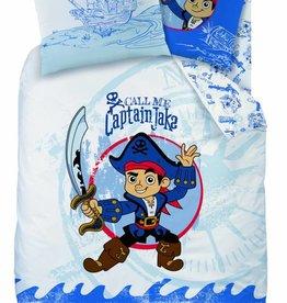 Disney Jake  en de Nooitgedachtland piraten Disney Jake en de Nooitgedachtland piraten Dekbedovertrek Captain 140x200cm + kussensloop 63x63cm