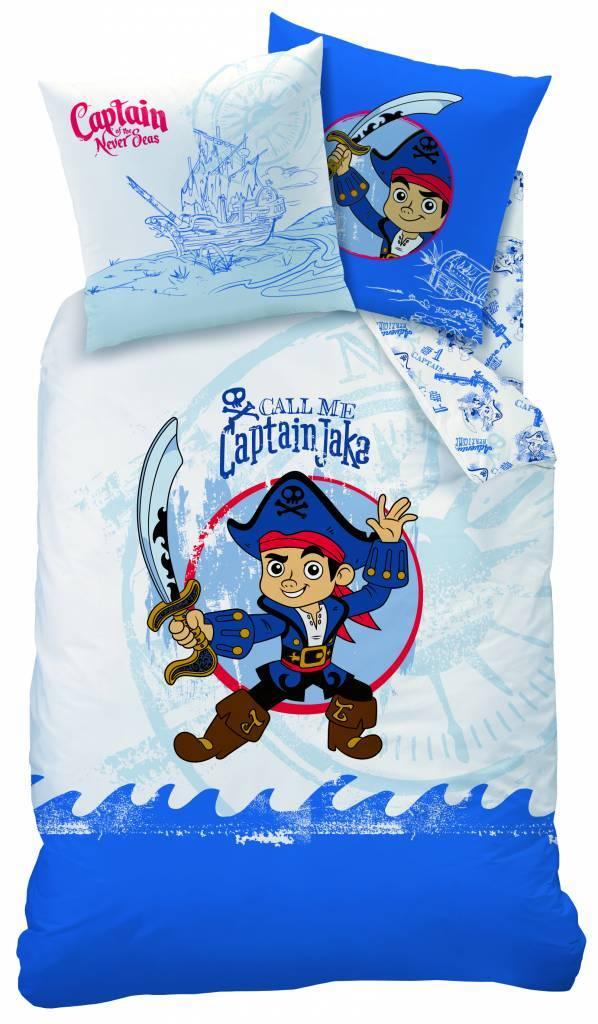 Disne3 Jake  en de Nooitgedachtland piraten Dekbedovertrek Captain 100% katoen 140x200 + 63x63cm