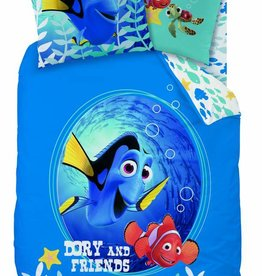 Disney Finding Dory Nemo Dekbedovertrek Dory & Friends 140x200cm + kussensloop 63x63cm