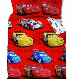 Disney Cars Disney Cars Dekbedovertrek Flanel Sponsor Rouge 140x200cm + kussensloop 63x63cm