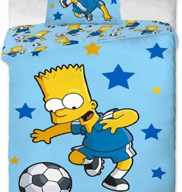 Simpsons Bart Simson Dekbedovertrek Football Star 140x200cm + kussensloop 70x90cm