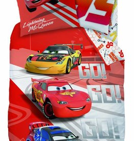 Disney Cars Disney Cars Dekbedovertrek Go Go Go 140x200cm + kussensloop 63x63cm