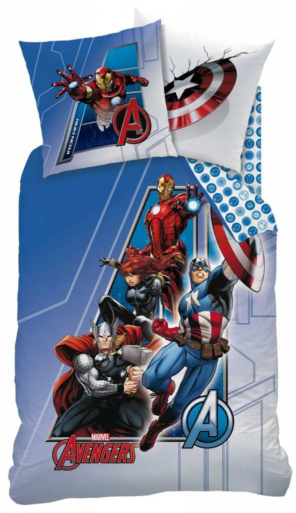 Marvel Avengers Marvel Avengers Dekbedovertrek  Adventure 140x200cm + kussensloop 63x63cm
