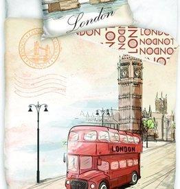Londen Londen Dekbedovertrek Bus 140x200cm + kussensloop 70x90cm