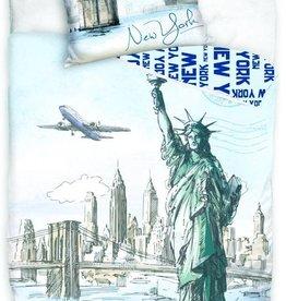 New York New York Dekbedovertrek  Liberty 140x200cm + kussensloop 70x90cm
