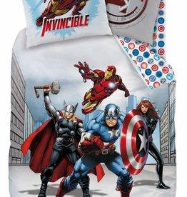 Avengers Avengers Dekbedovertrek City 140x200cm + kussensloop 63x63 cm