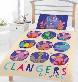 Clangers Clangers Circles Junior Dekbedovertrek 120x150cm + kussensloop 42x62cm