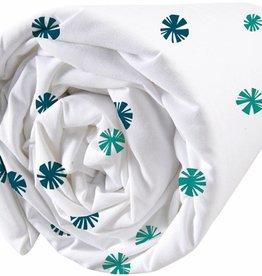 Matt & Rose Hoeslaken Fleurs graphiques Nav3, emerald 160x200cm