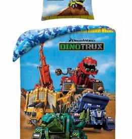 Dinotrux T3 - Dekbedovertrek - Eenpersoons - 140 x 200 cm - Multi