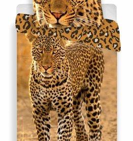 Animal Pictures Luipaard - Dekbedovertrek - Eenpersoons - 140 x 200 - Mutli