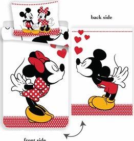 Disney Minnie Mouse Disney Minnie Mouse Dekbedovertrek Kissing 140x200cm + kussensloop 70x90cm
