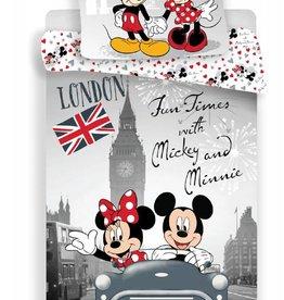 Disney Minnie Mouse Disney Minnie Mouse Dekbedovertrek Fun Times 140x200cm + kussensloop 70x90cm