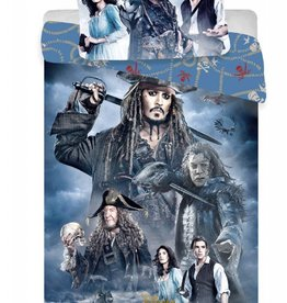 Pirates of the Caribbean Jack Sparrow - Dekbedovertrek - Eenpersoons - 140 x 200 cm - Multi