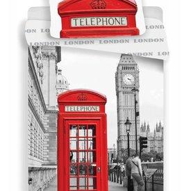 Londen Phone - Dekbedovertrek - Eenpersoons - 140 x 200 cm - Multi