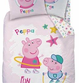 Peppa Pig Peppa Pig Dekbedovertrek Recreation 140x200cm + kussensloop 63x63cm