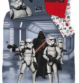 Star wars Dekbedovertrek Dark side 140x200cm + 63x63cm 100% katoen / Flanel