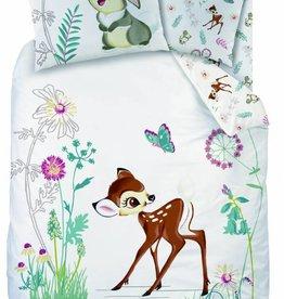 Disne3 Bambi In het veld - Dekbedovertrek - Eenpersoons - 140 x 200 cm - Wit