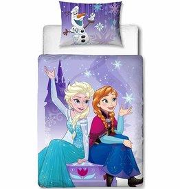Disney Frozen Disney Frozen Dekbedovertrek Transparant 120x150cm + kussensloop 42x62cm