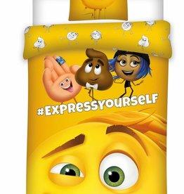 Emoji Emoji  Dekbedovertrek The movie 140x200cm + kussensloop 60x70cm