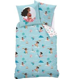 Disne3 Vaiana Disney Vaiana  Dekbedovertrek Avontuur 140 x 200cm inclusief pyjama bag
