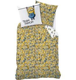 Minions Minions Dekbedovertrek Friends 140 x 200cm inclusief pyjama bag - katoen